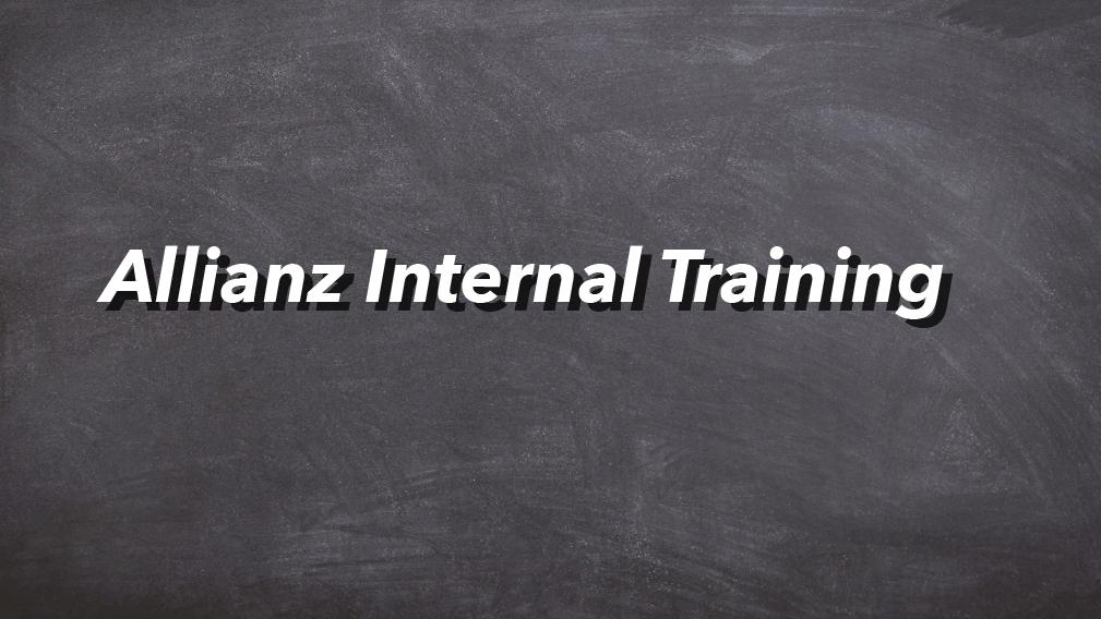 07-10-2020 Allianz Internal Training