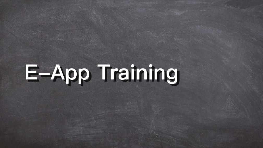 E-app Training